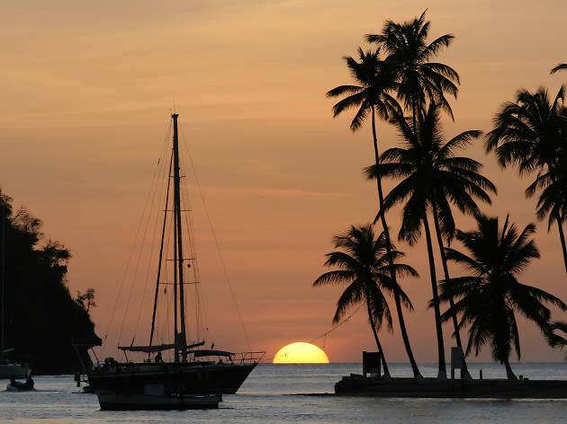 Soufrière harbour in St Lucia