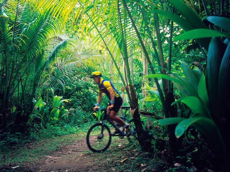 Try some adventure sports at Anse Mamin