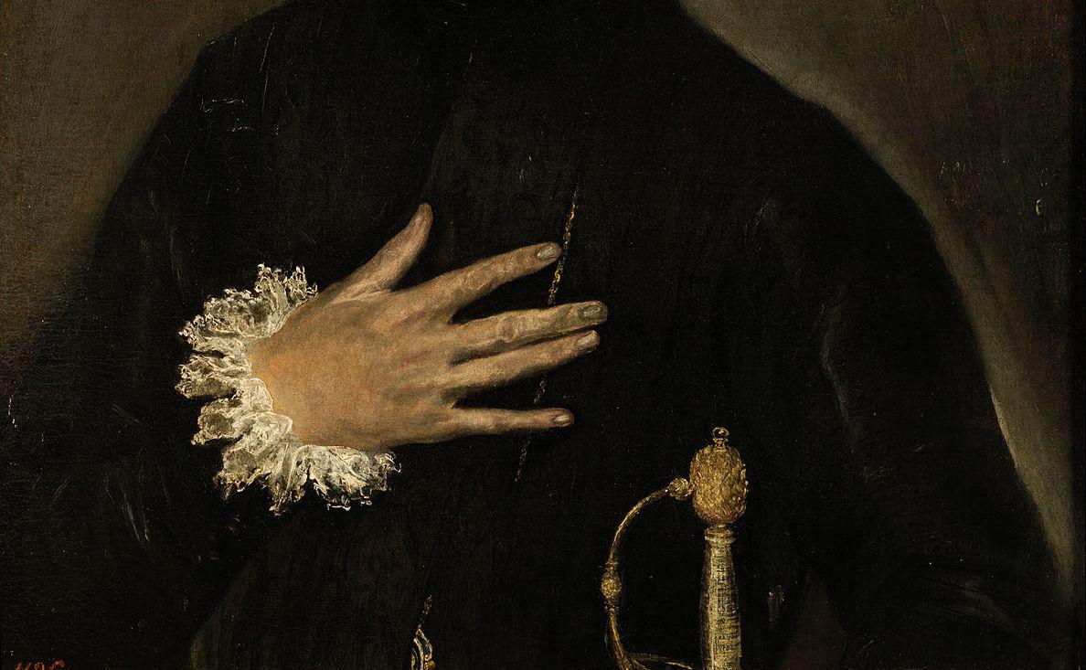 El caballero de la mano en el pecho
