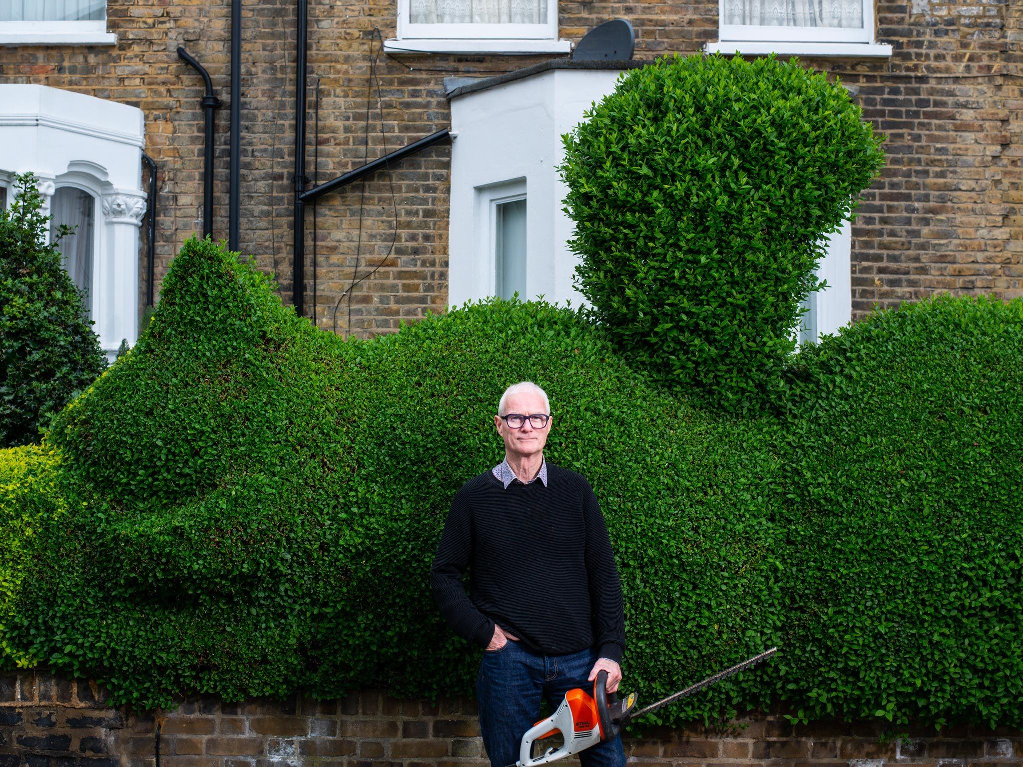 Tim Bushe, aka Hedgecutter Man