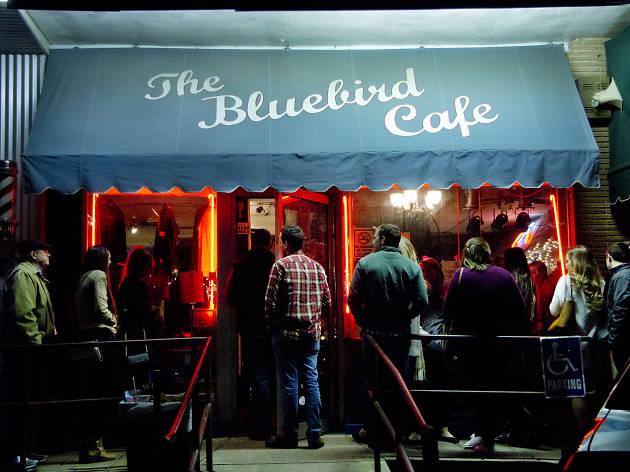 Nighttime exterior, Bluebird Cafe, Nashville, Tennessee