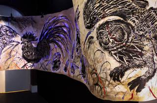 (Sun Xun, Path to the Time Vivarium, 2017, installation view, Rosa's Wound, image courtesy the artist)