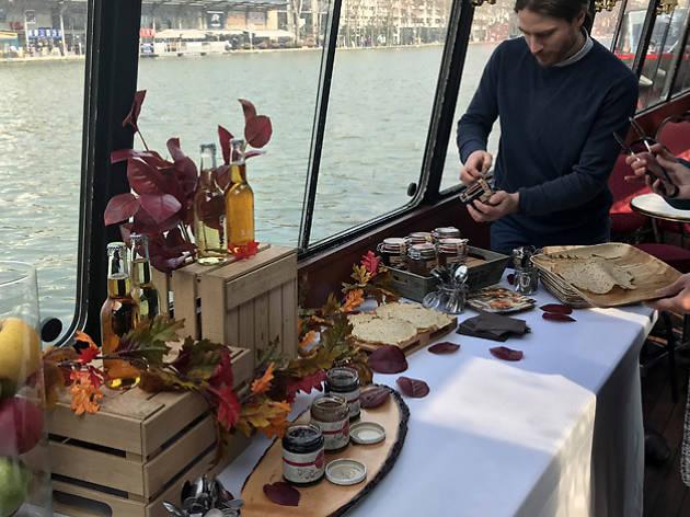 Crepe cruise on the Seine, Paris, 2018