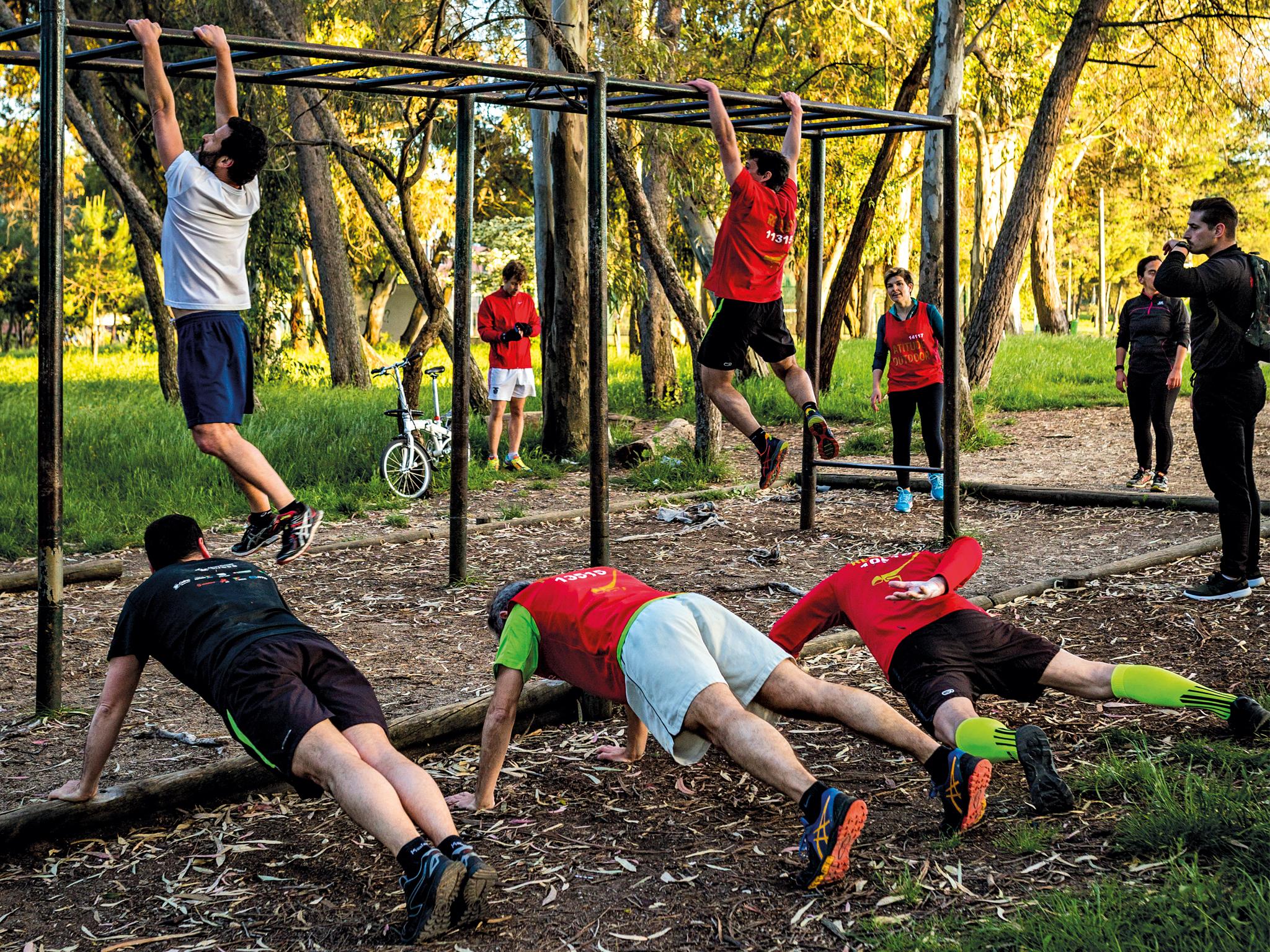 Experimente treinar ao ar livre em Lisboa