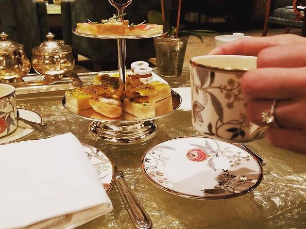 Tea service at Ritz-Carlton Central Park