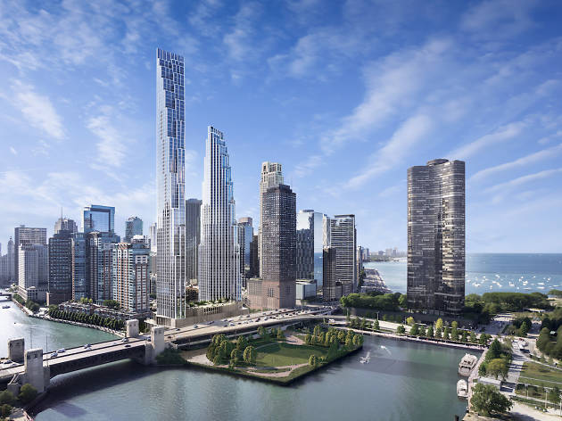 The site of the failed Chicago Spire may host two new towers