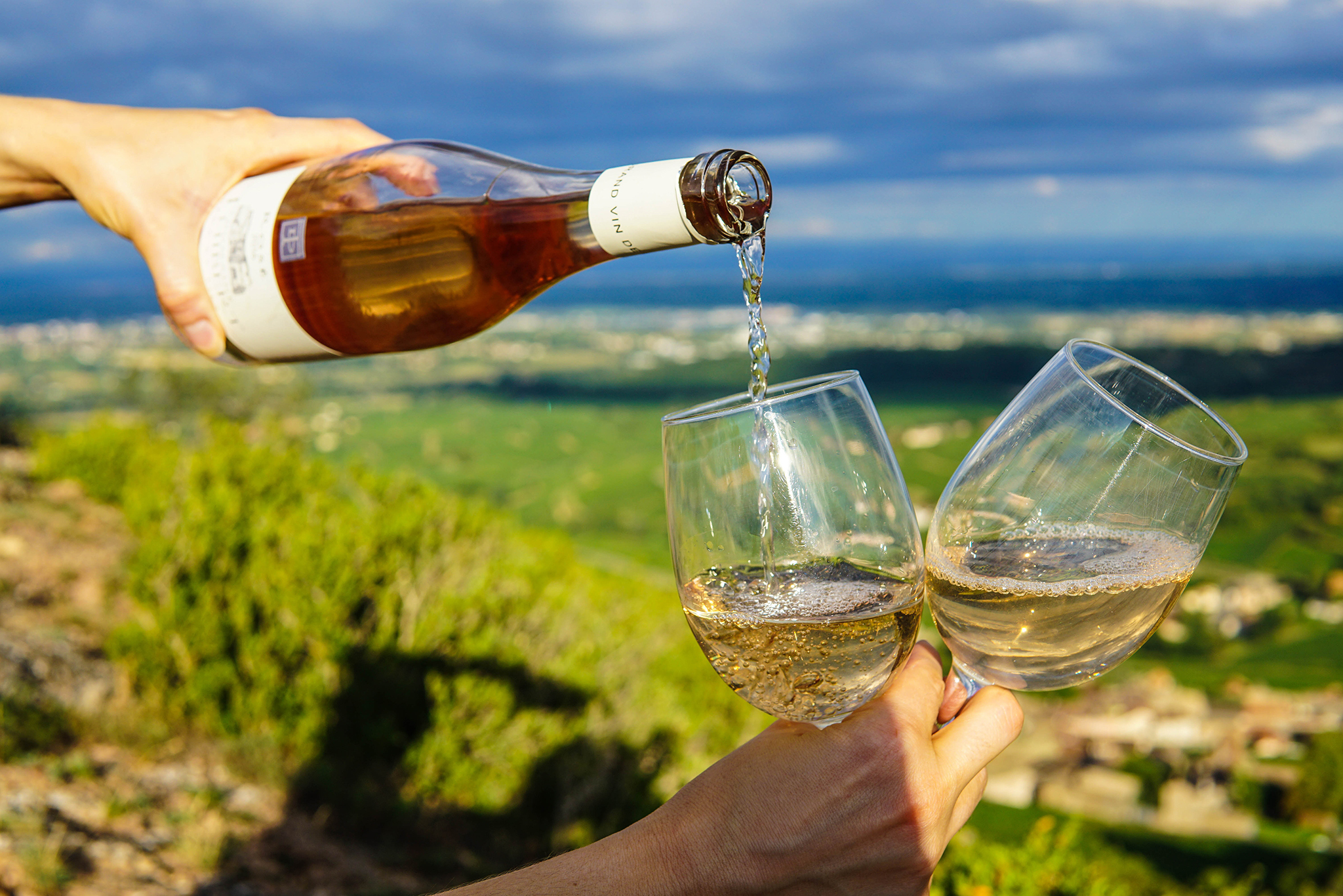 Wine outdoors