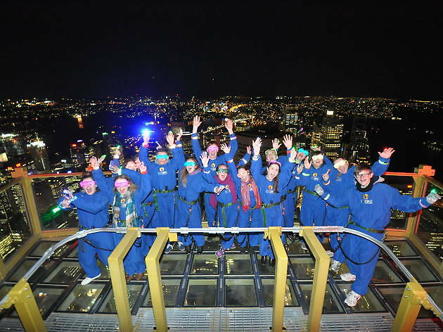 Sydney Tower Eye night skywalk RedBalloon