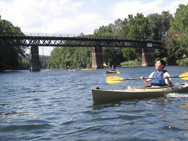 Kayak on the Schuylkill River