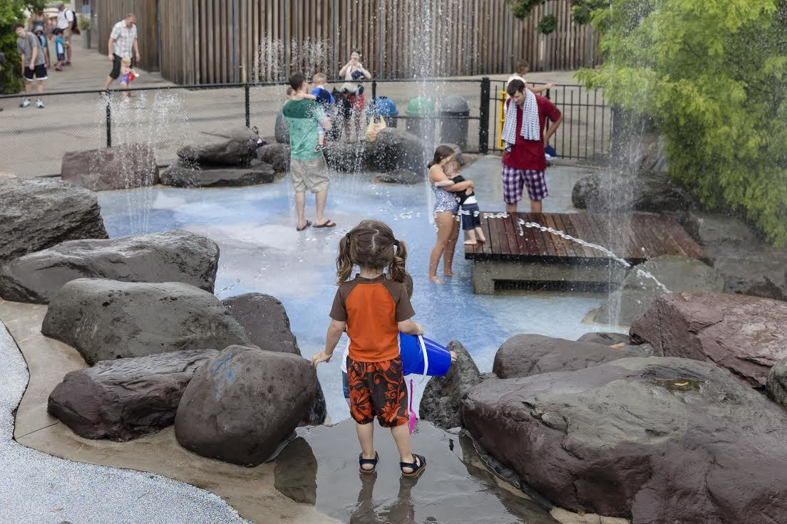 Water playgrounds in NYC