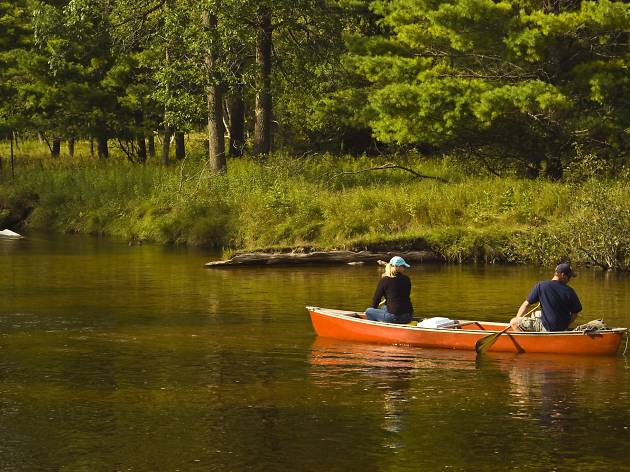 Philadelphia Canoe Club offers full-day tutorials on how to canoe that culminate with a canoe ride through the gorgeous Pine Barrens of New Jersey.