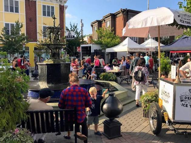 The Singing Fountain Farmers' Market is on East Passyunk Avenue.