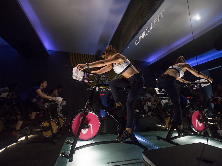 Take a spin class at altitude