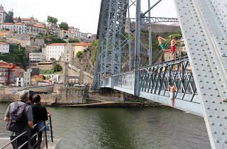 Ponte D. Luis - Saltos para a agua
