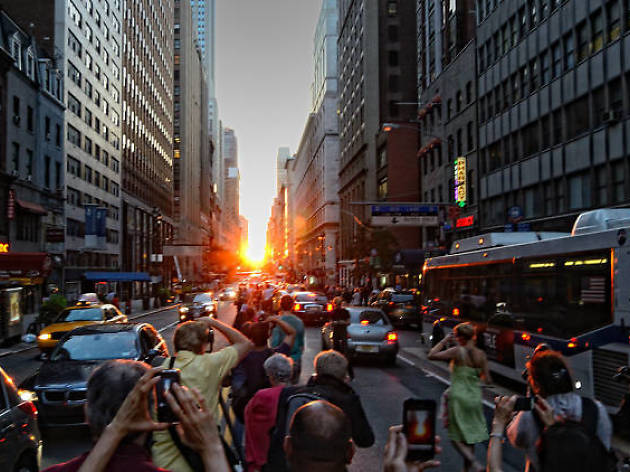 The stunning Manhattanhenge sunset is happening in NYC next week