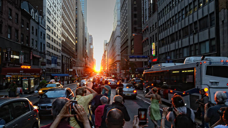 Manhattanhenge takes place next week