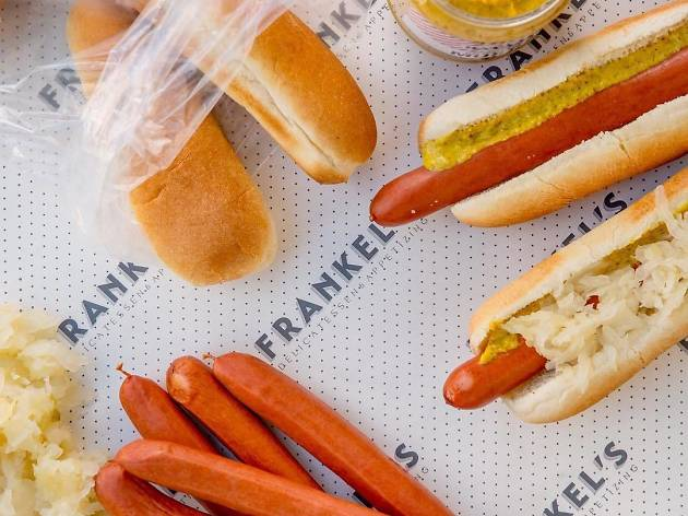 Hot dogs at Frankel's Delicatessen & Appetizing