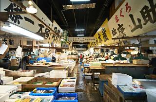 Tsukiji fish market - stockphoto