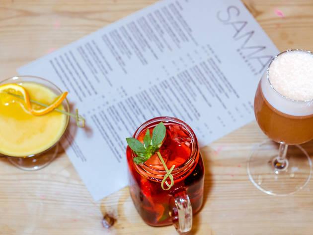 Four cocktails at SAMA Bankside