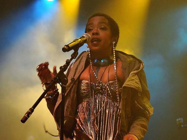 Lauryn Hill performs in concert at the O2 Arena, London.
