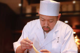 Detail is a vital component of Chef Hashida's dishes