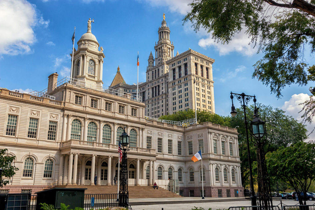 Photograph: City Hall of NY; Shutterstock ID 585651476; Purchase Order: New York; Job: ; Client/Licensee: Time Out; Other: