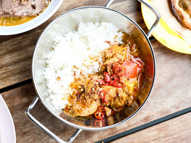 Portuguese Devil Chicken Curry at Hawker Hall