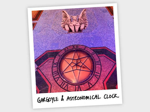 Gargoyle and clock