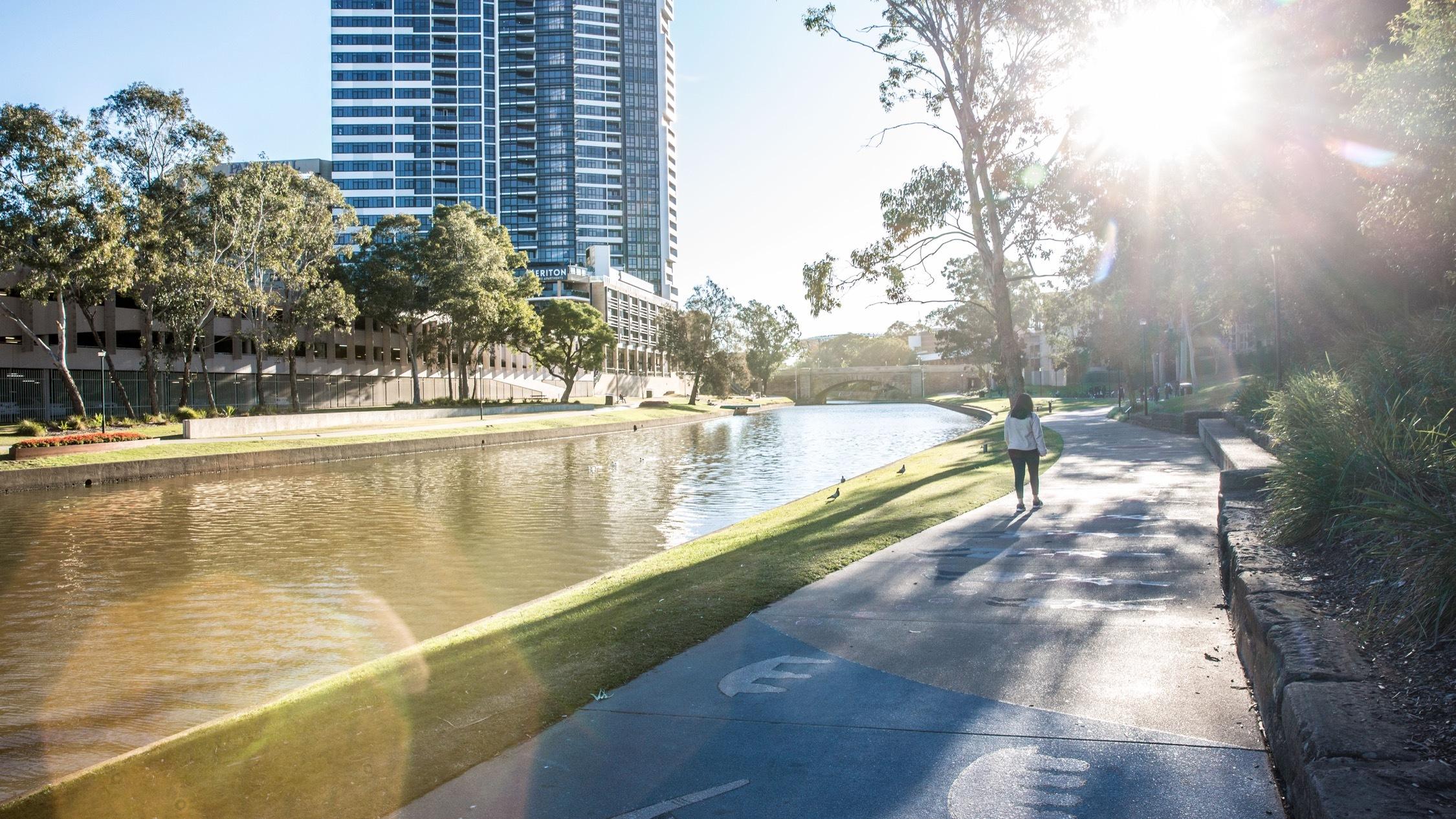 Parramatta Park to Olympic Park running track