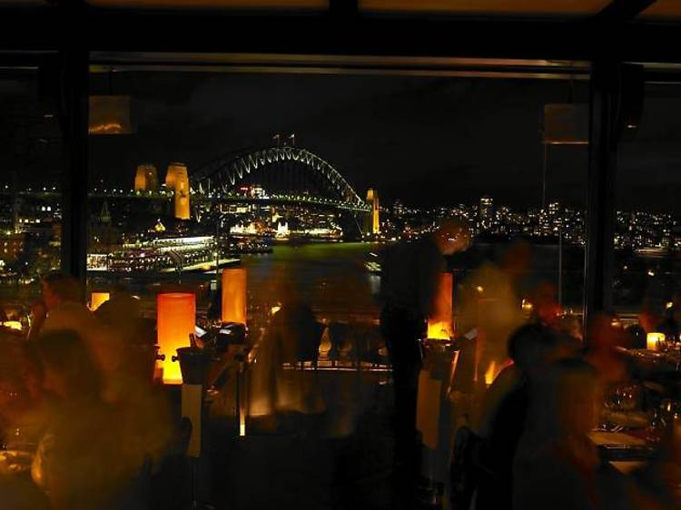 Watch the lights from Cafe Sydney