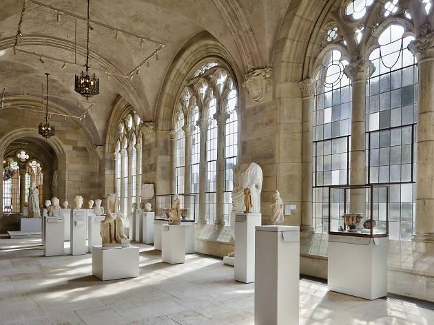 Sculptures inside Yale University Art Gallery