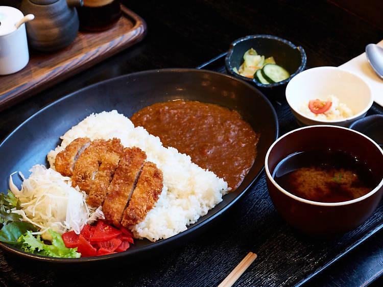 Chicken katsu curry set at Gypsy and Pig