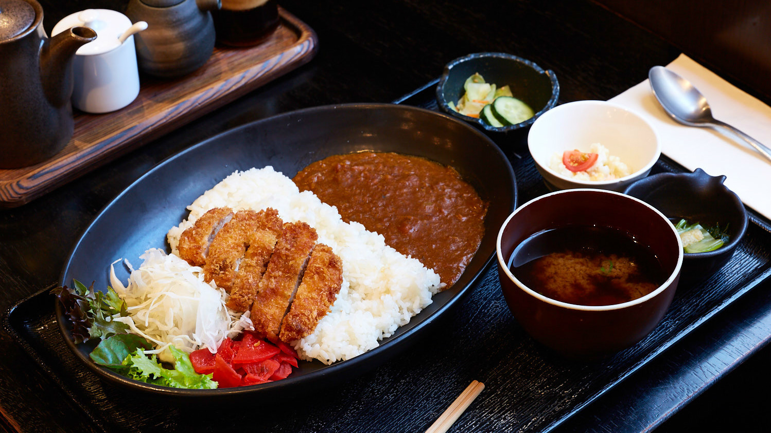 Chicken katsu curry set at Gypsy & Pig