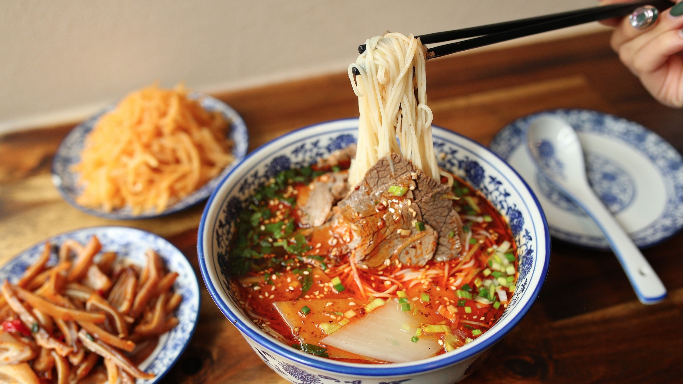 Food at Lanzhou Beef Noodle