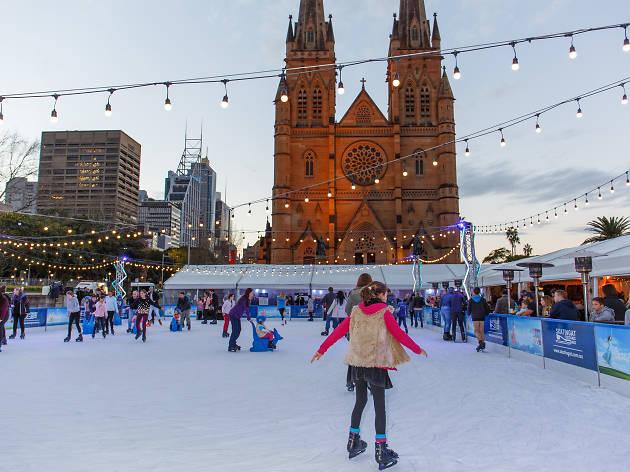 Skating at Cathedral Square