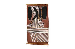 (John Mawurndjul, 'Ancestral spirit beings collecting honey', 1985-1987)