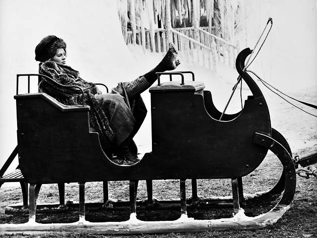 Julie Christie al rodatge de Doctor Zhivago