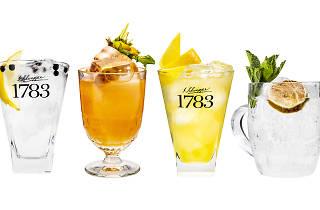Schweppes drinks header image, for Schweppes 1783 campaign