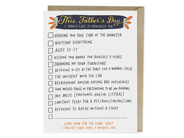 Checklist Father's Day Card