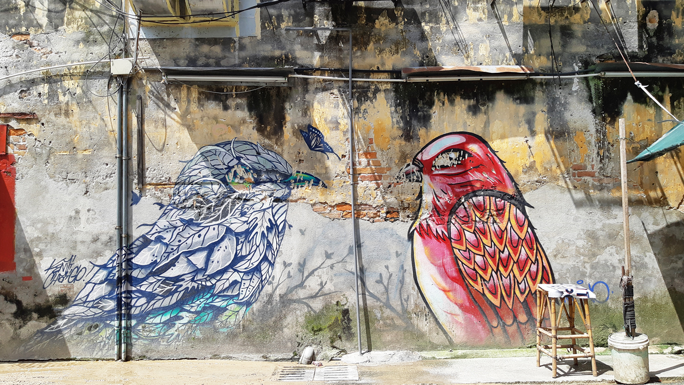 Best street art in Old KL