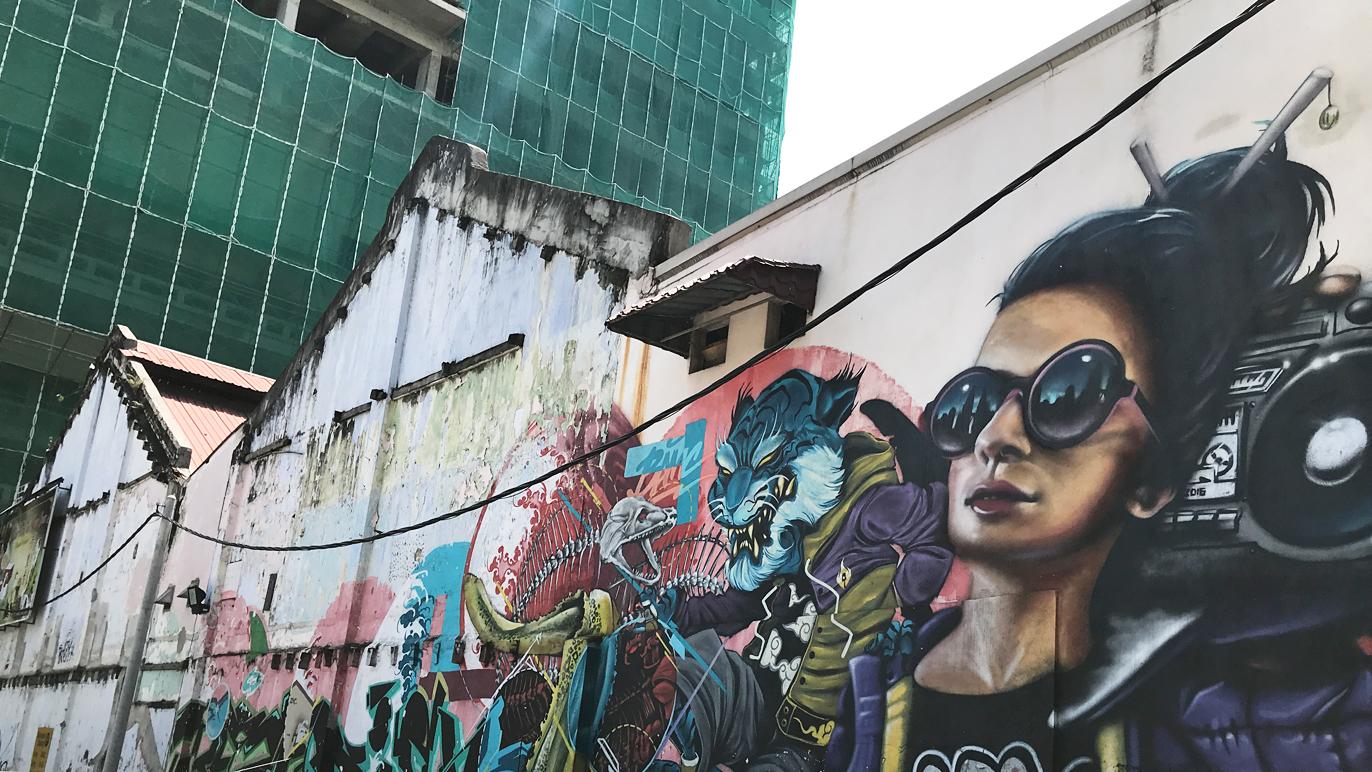 Petaling Street street art - Funkdamental