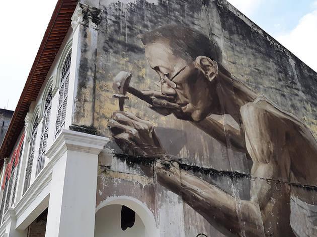 Petaling Street street art - Goldsmith
