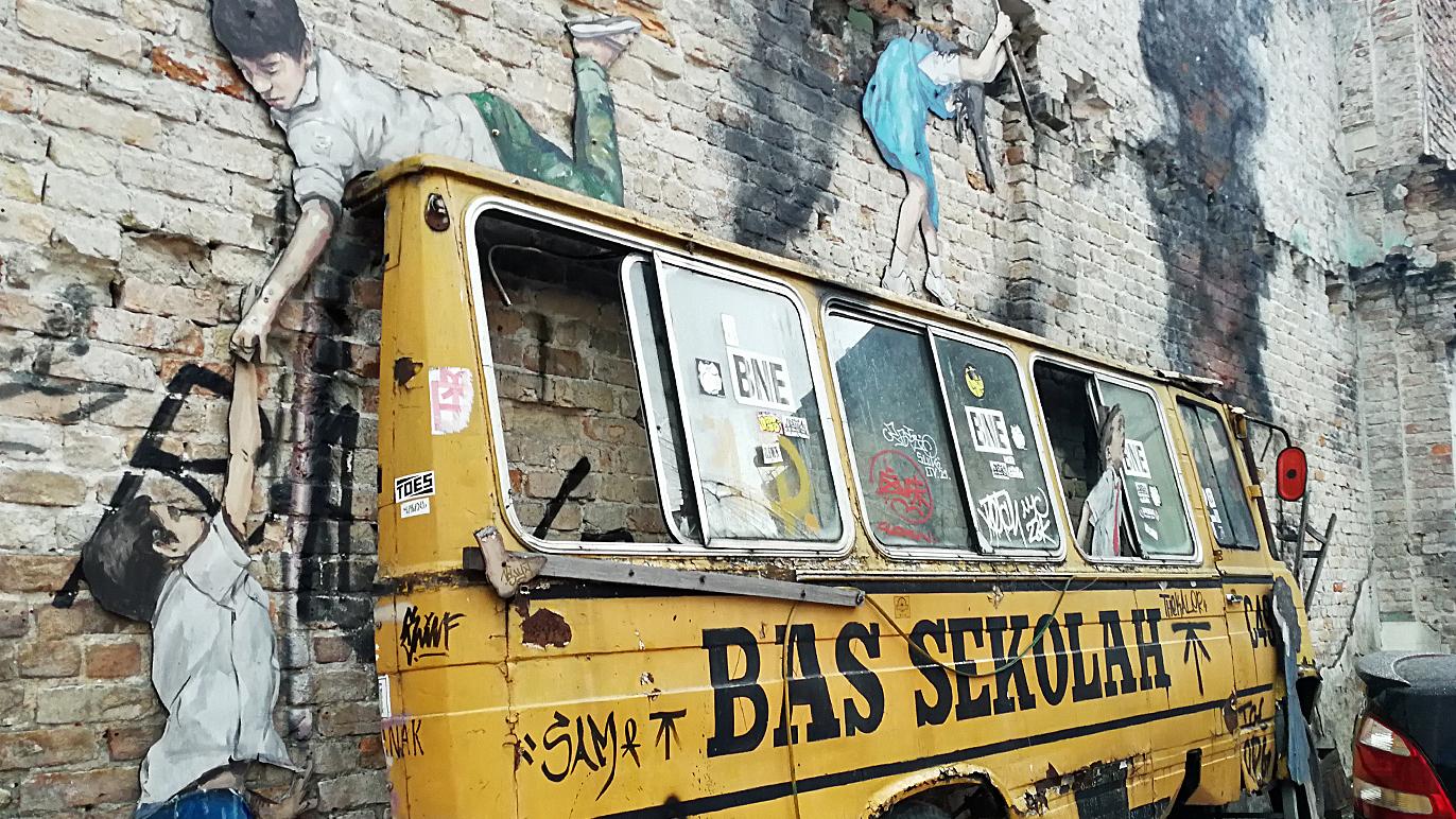Petaling Street street art - Rage Against the Machine