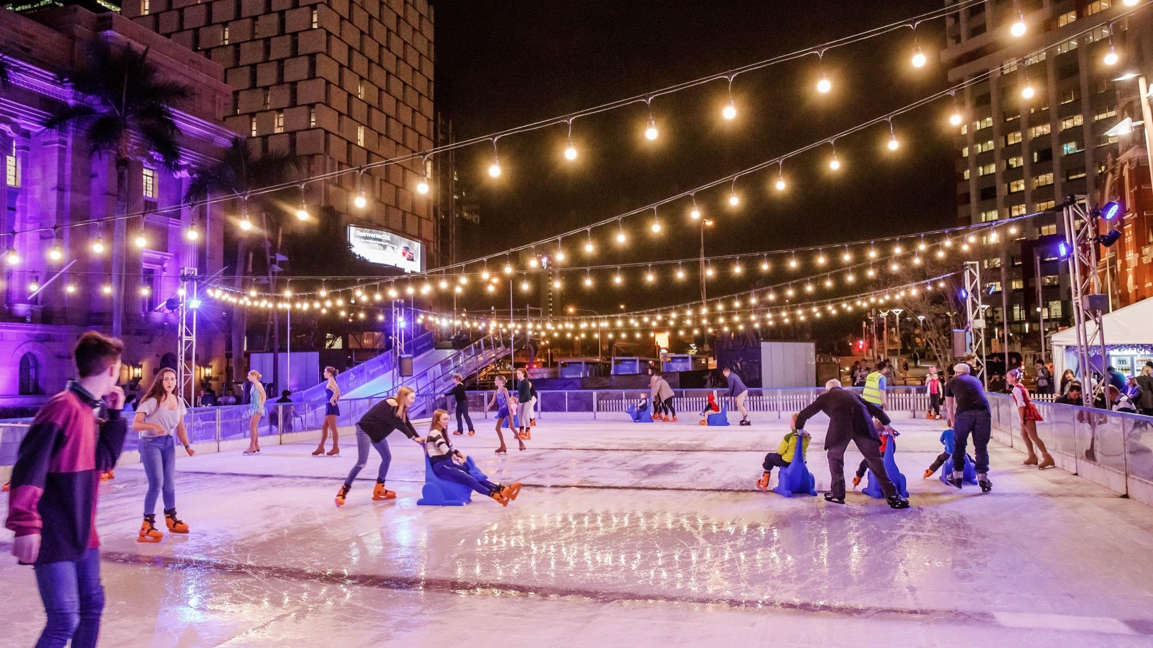 Ice Skating a Elizabeth Quay