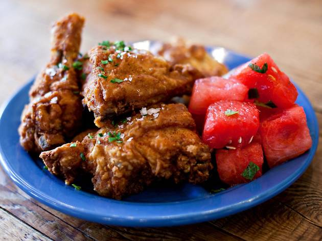 Fried chicken at Yardbird Southern Table & Bar