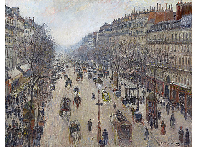 (Camille Pissarro 'Boulevard Montmartre, morning, cloudy weather' 1897)