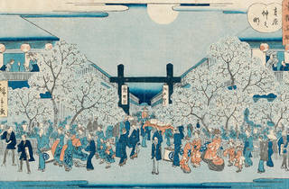 (Utagawa Hiroshige II 'Nakanocho in the Yoshiwara' 1862)