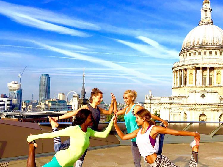 Summer Rooftop Yoga, Madison Terrace