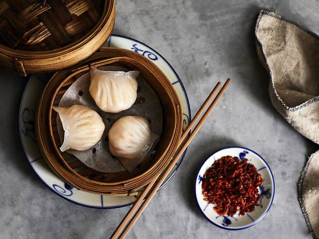 Prawn dumpling degustation
