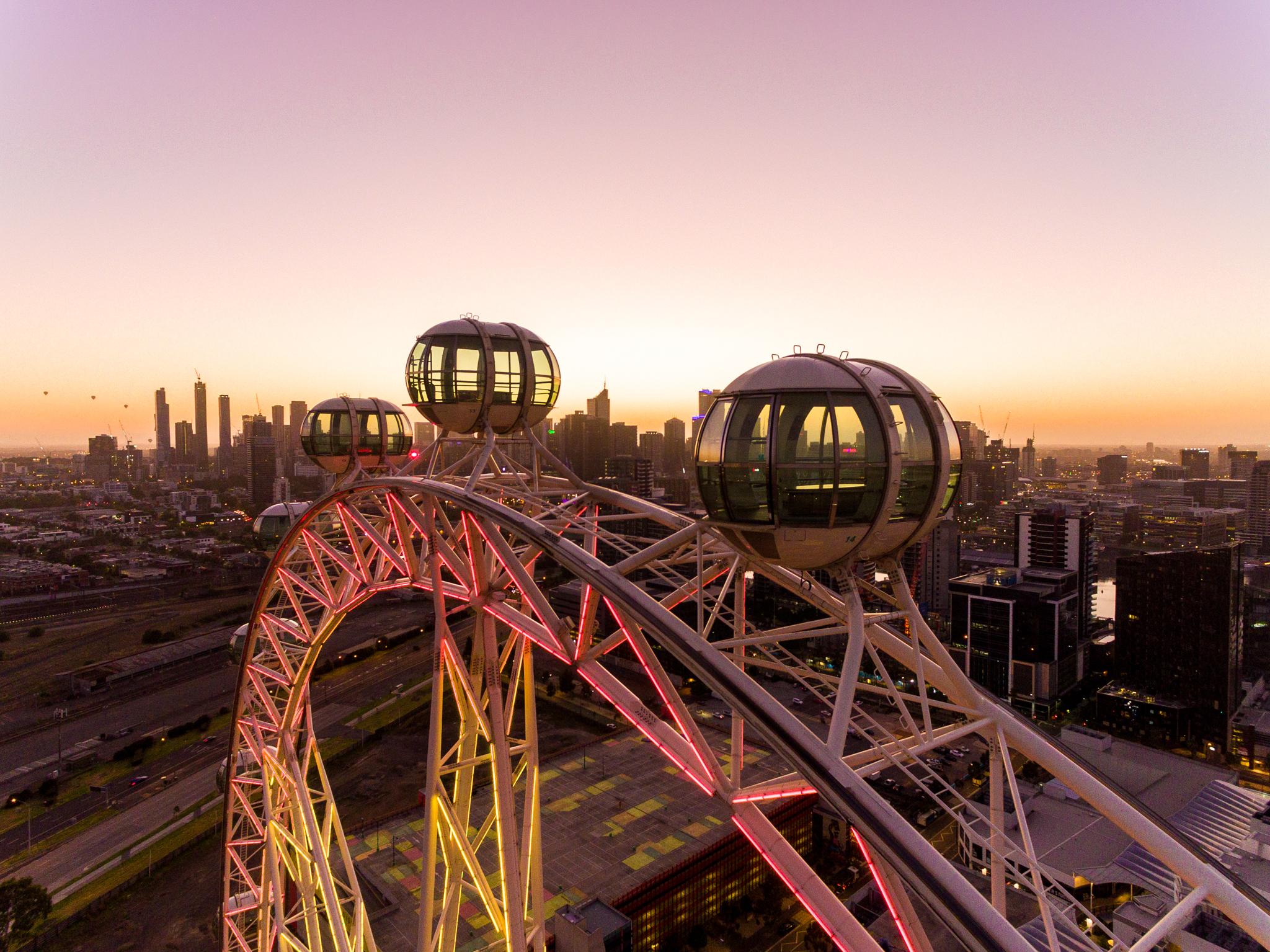 Melbourne Star Observation Wheel sunset